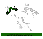 Radiator Coolant Hose - BMW (11-53-1-711-385)