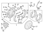 Brake Shoes - Kia (58350-H9A00)