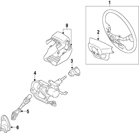 STEERING/STEERING COLUMN for 2012 Scion iQ #1
