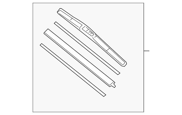 Blade Windshield Wiper 650mm Honda 76620 Ta0 A02 Hondapartswd
