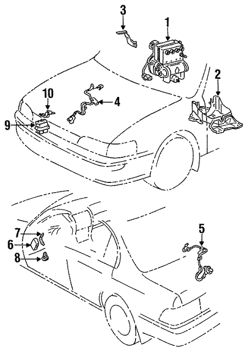 Abs Components For 1996 Toyota Corolla