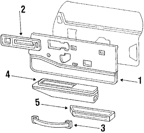 Oem 1988 Buick Lesabre Interior Trim Door Parts