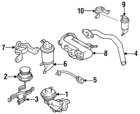 EMISSION SYSTEM/EGR SYSTEM for 1996 Toyota Camry #1