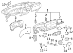 Service Component, Ashtray Package Component - GM (25776667)