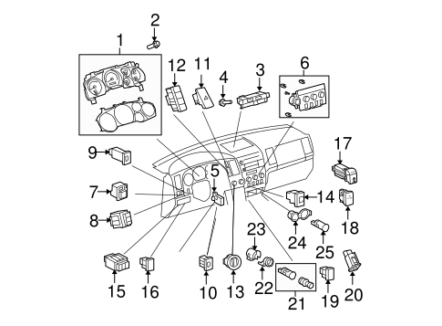 Air Bag Components for 2009 Toyota Tundra #1