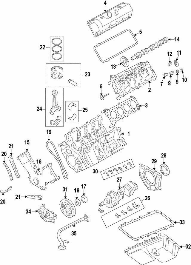 2000-2019 Ford Engine Crankshaft Thrust Washer 2L3Z-6A355 ...