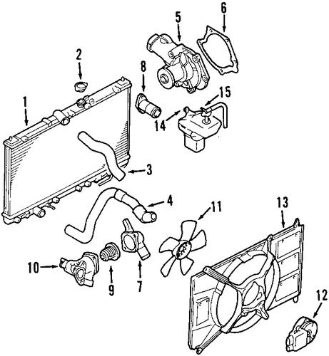 radiator  u0026 components for 2000 mitsubishi galant