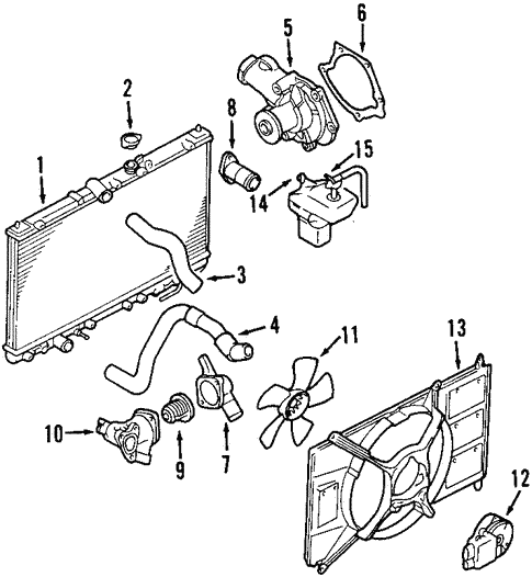 Radiator Components For 2003 Mitsubishi Galant Ls