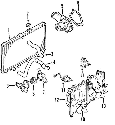 radiator  u0026 components for 2010 mitsubishi galant