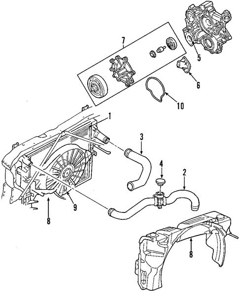Cooling System For 2008 Dodge Dakota