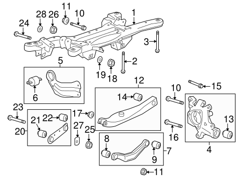 Oem 2011 Buick Lacrosse Rear Suspension Parts