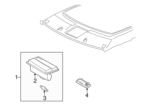 BODY/OVERHEAD CONSOLE for 1997 Toyota Camry #1