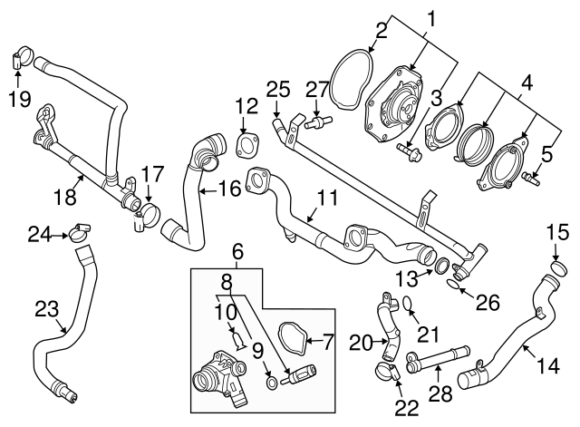 2007 2015 volvo upper pipe 31293052 courtesyvolvoparts 2008 Volvo XC90 Inside