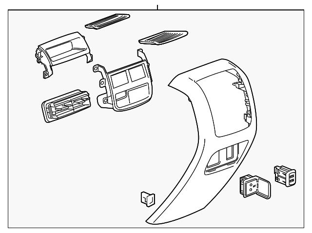 2017 cadillac xt5 rear panel assembly 84093666