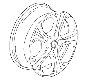 Wheel, Alloy - GM (42438292)