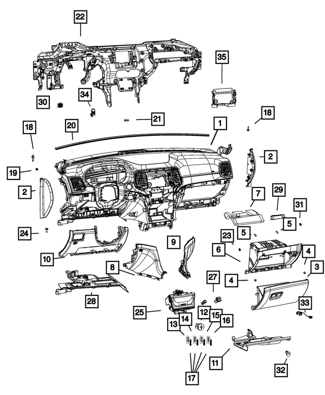 Radio Bracket - Mopar (68428508AA)