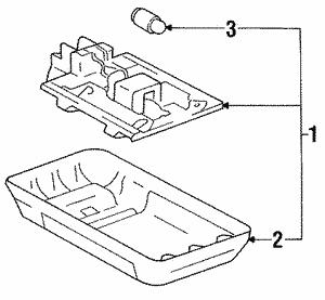genuine oem toyota interior parts toyota parts 1994 Toyota Camry Exhaust System Diagram interior l