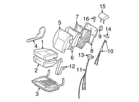 BODY/SECOND ROW SEATS for 2004 Toyota Highlander #4