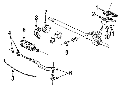 Bracket, Power Steering Rack