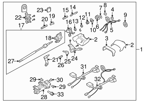 Steering Column Assembly for 2004 Oldsmobile Bravada #0