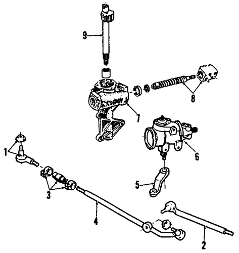 steering gear  u0026 linkage for 1992 ford f