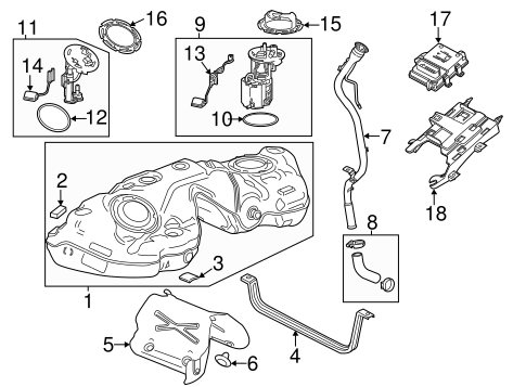 Oem Fuel System Components For 2014 Cadillac Cts