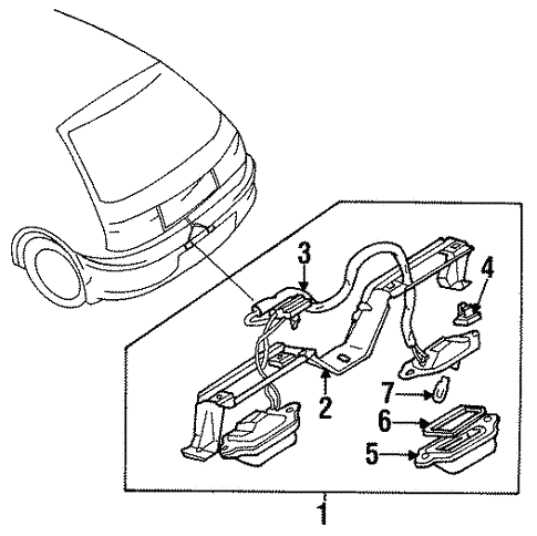 Genuine Oem License Lamps Parts For 1990 Mazda 323 Base