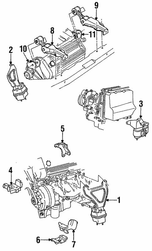 engine/engine & trans mounting for 1998 cadillac eldorado #1