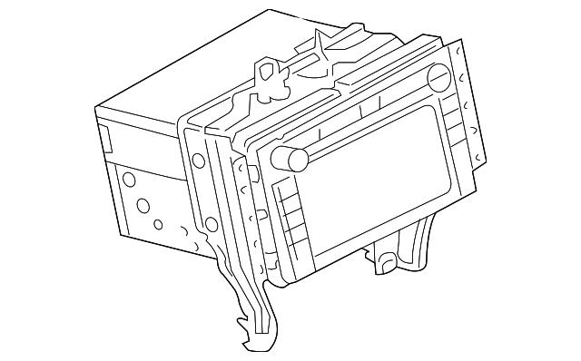 2008 Lincoln Mkz Display Unit 7h6z18806b