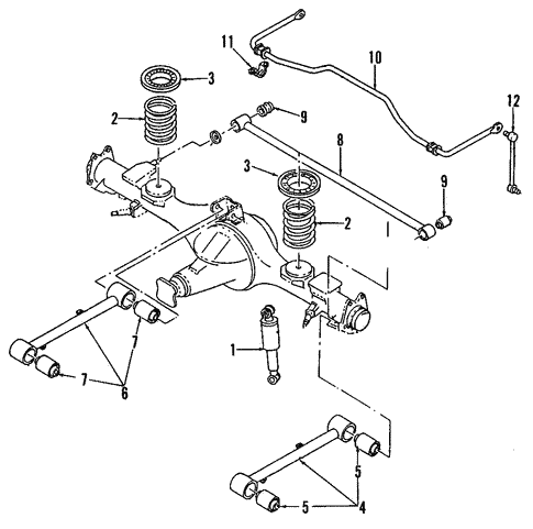 Rear Suspension for 1995 Isuzu Trooper | Isuzu Parts Center