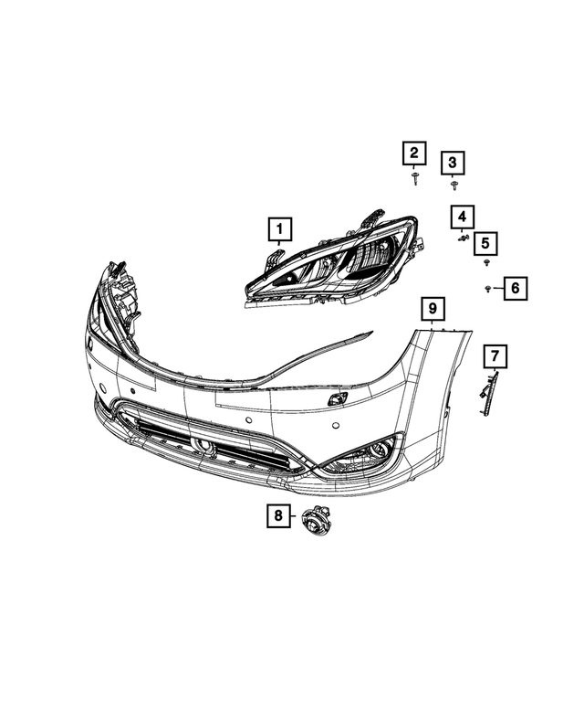 Headlamp, Left - Mopar (68228947AI)