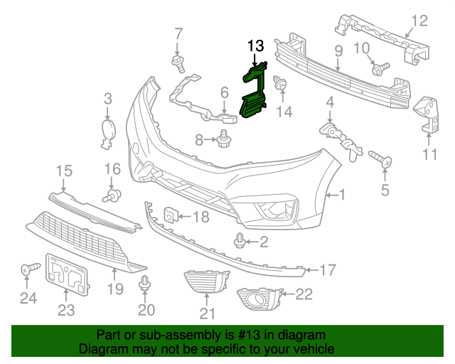Partslink Number MA1066111 Unknown OE Replacement Mazda Mazda6 Front Driver Side Bumper Bracket
