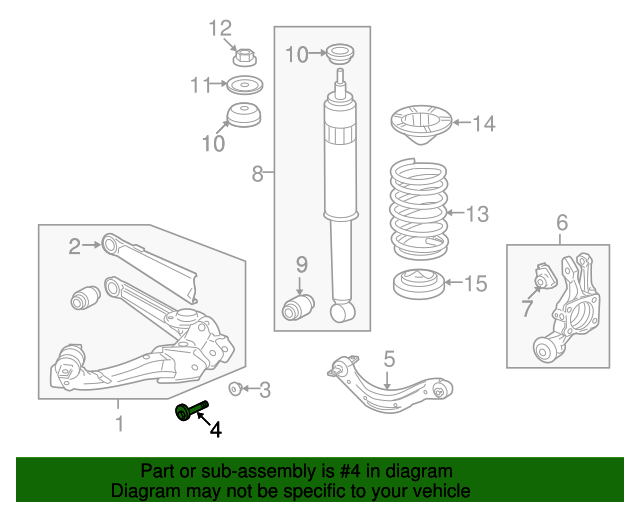 Bolt, Trailing Arm Adjust