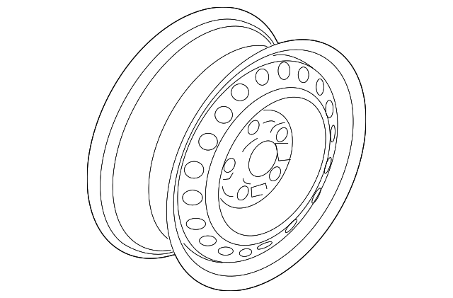 Disk, Wheel (15X6J) (Cmc/Cla)(Black)