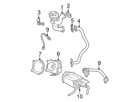 EMISSION SYSTEM/EGR SYSTEM for 2003 Toyota Camry #1