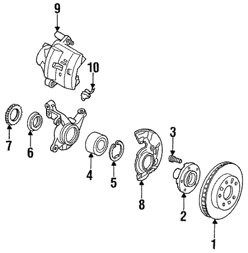 Front Brakes for 1993 Ford Probe #0