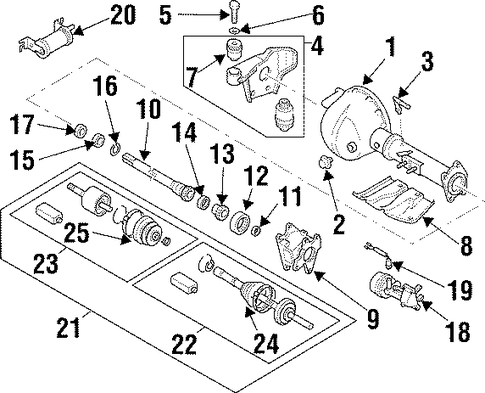 Case Assembly, Front Axle