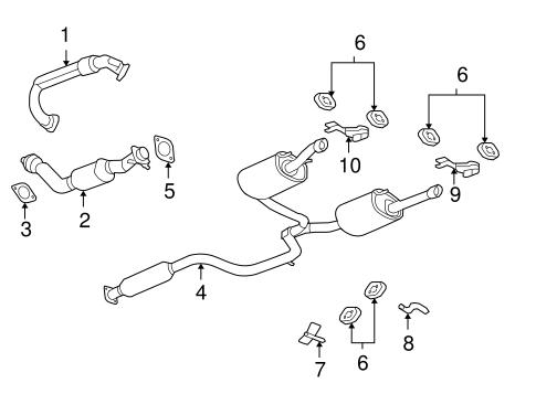 exhaust components for 2008 chevrolet impala impala exhaust system diagram 2000 chevy impala exhaust system diagram #2
