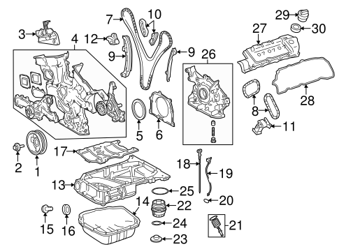 Engine Parts for 2007 Toyota Sienna #0
