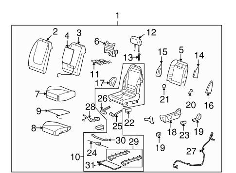 Pleasant Driver Seat Components For 2012 Chevrolet Malibu Gmpartonline Creativecarmelina Interior Chair Design Creativecarmelinacom