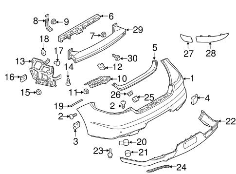 Bumper & Components - Rear for 2014 Porsche Panamera ...