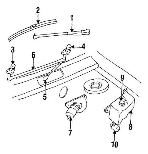 Wiper & Washer Components for 1991 Chrysler Town & Country #0