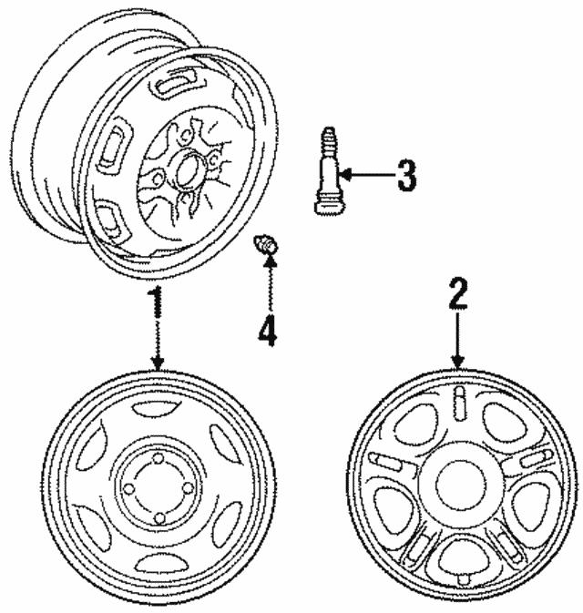 1998 1999 Chevrolet Prizm Wheel Alloy 94857833