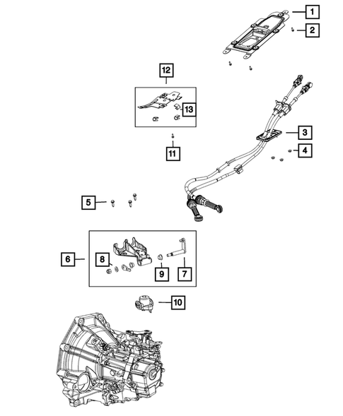 Gearshift Controls and Related Parts for 2015 Jeep Renegade #0