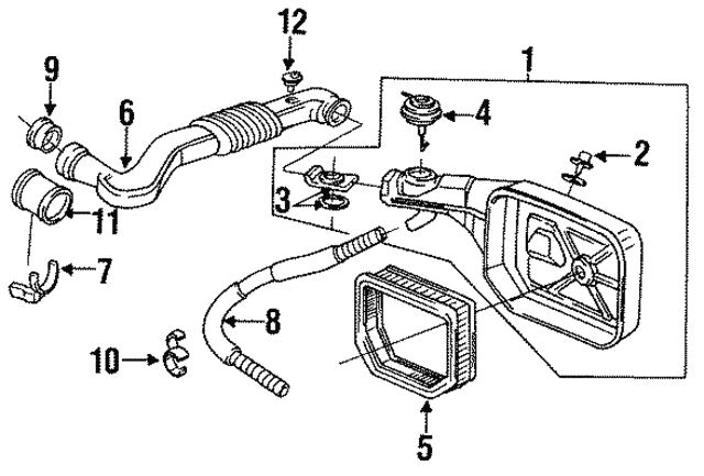 1990 Honda Prelude Coupe Clamp Hot Air Pipe 17304 Pk1 023
