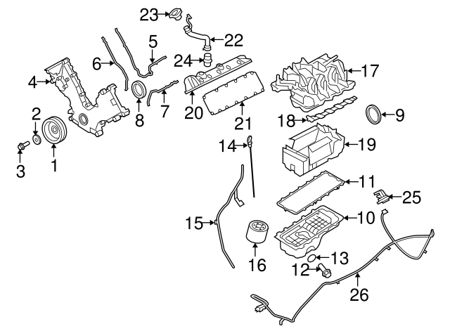 1997 2019 Ford Drain Plug Gasket F75z 6734 Aa
