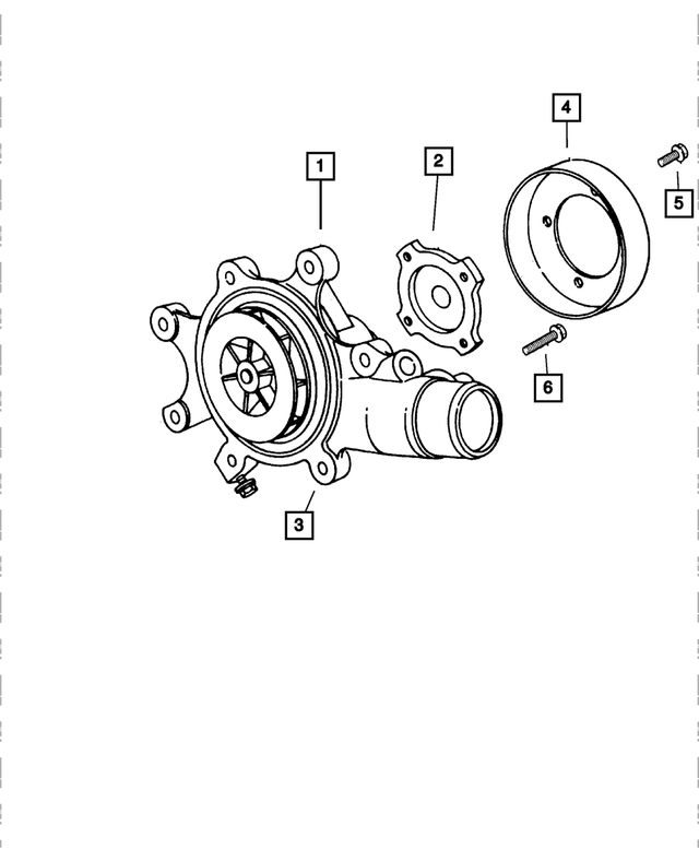 Water Pump - Mopar (4763776AC)