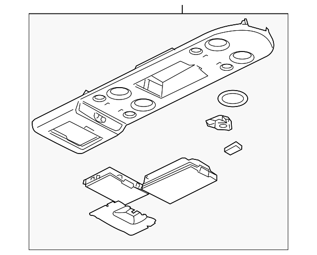Overhead Console Nissan 96980 Zq00d