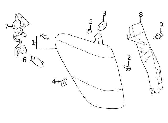 2019 Subaru Forester Tail Lamp 84912sj070