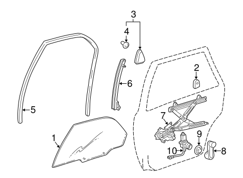 BODY/REAR DOOR for 1997 Toyota Camry #1